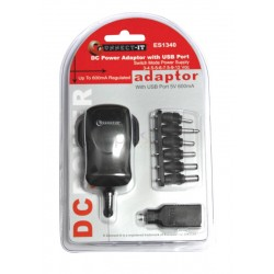 AC/DC Switch Adaptor with USB Port
