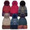 Ladies Bobble Hat Assorted
