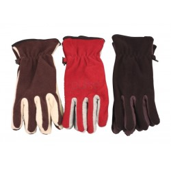 Polar Fleece Gloves  2 Tone  Ladies