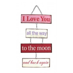 All the Way to the Moon Metal Plaque
