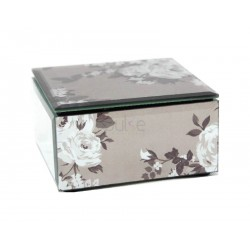 Mirror Foil Rose Trinket Box